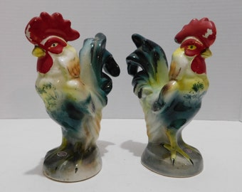 Vintage Made in Japan Rooster Tooth Pick Holder Hor d'oeuvres Holder 1950's