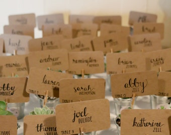 Hand Lettered Name Cards