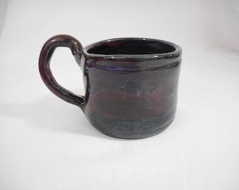 Purple Stoneware Ceramic Mug, Handmade Pottery, Hand Painted, Hand Thrown, Drinkware, Coffee, Tea, Gift (C0032)