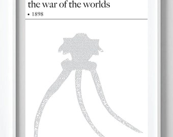 The War of the Worlds- H G Wells Text Art Poster