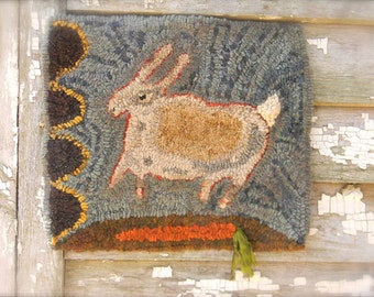 Quick As a Bunny rug hooking pattern - PDF - from Notforgotten Farm™