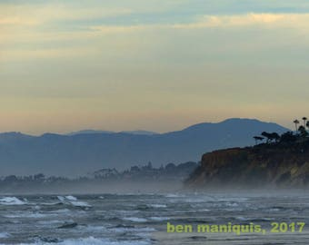 Looking North - Torrey Pines, San Diego, CA - Landscape Photograph Art Print - Ocean - Beach Photography
