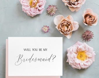 Will You Be My Bridesmaid? Card //bridesmaid proposal // be my bridesmaid card // maid of honor card //matron of honor card // flower girl
