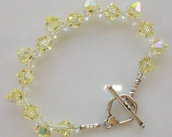 Swarovski Jonquil Crystal Beaded Bracelet            SRAJD   handmade  birthday    trend   holiday   gift
