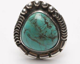 Sterling Silver and Turquoise Native American Ring