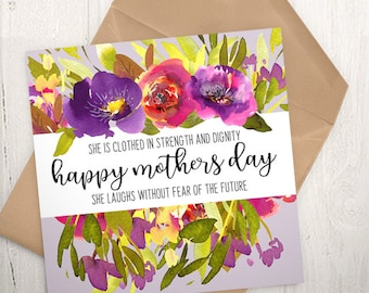GC-152 PRINTABLE Greeting Card - digital file - DOWNLOAD - Mothers Day, blessings, Christian