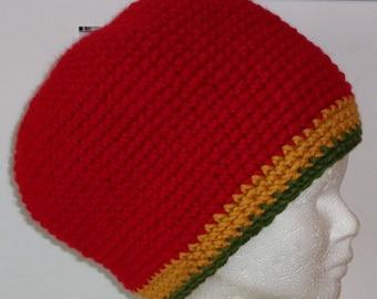 """Rasta hat """"Red"""" y """"-Volume size S"""