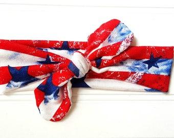 America Top Knot Headband