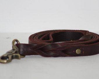 Braided Leather Leash