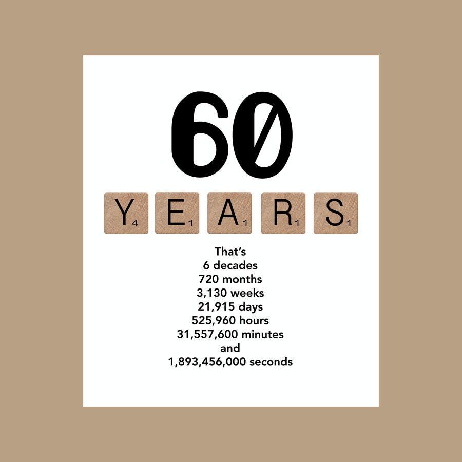 60th Birthday Card Milestone Birthday Card The Big 60 1958