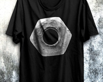 Hex-Nut-T Shirt-for engineers-For Designers-T Shirt for architects-T Shirt for mechanics-Statement T shirt-Funny T Shirt-Hexagon