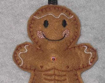 Gingerbread Man with Six-Pack Hanging Decoration