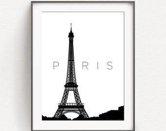 Paris, France, modern, wall art, Eiffel Tower, travel, French, gift for traveller, home decor, wall art, art prints, City Prints, Parisian