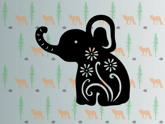Download cute elephant svg flower elephant svg files for cricut