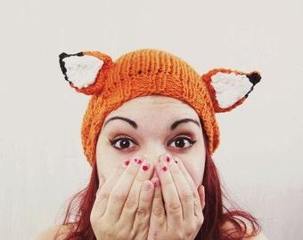 Fantastic Fox Hat / Fox Ears / Mr. Fox / Knit / Costume / Cosplay