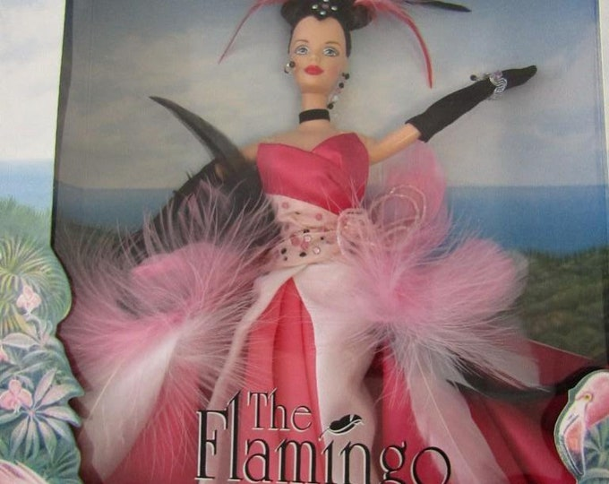 1998 The Flamingo Barbie Doll. Collector Edition. Birds of Beauty Collection. New In Box.