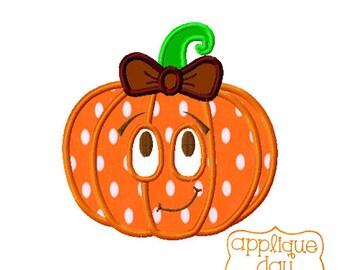 Fall Pumpking Digital Applique Design Instant Download