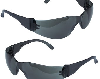 1 Brand New Smoked Tint Lenses Black Lens Eye Safety Glasses eye Wear Protection Automotive Home Improvements Hobby & Craft