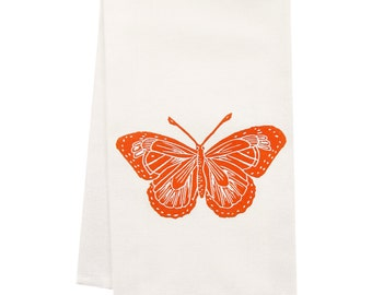 ORGANIC butterfly tea towel