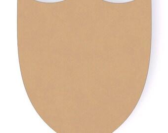 "8"" Wooden Shield Wood Craft Cutout Shape - Unfinished MDF Wood"