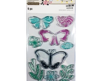 Butterfly clear stamp set by Recollections (535917) - CS204