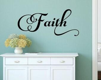 Awesome Faith Wall Decal Faith Vinyl Decal Religious Wall Decal Christian Wall Decal  Bible Decal Faith Decal