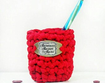 Crochet Home Decor - Mother's Day Gift - Inspirational Gift - She Believed - Gifts for Crafter - Graduation Gift - Momprenuer Gift