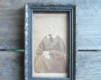 Sweet Antique Framed Granny Photo