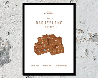 The Darjeeling Limited high quality film print (A5, A4, A3)