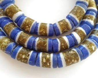 31 African glass beads - gb61