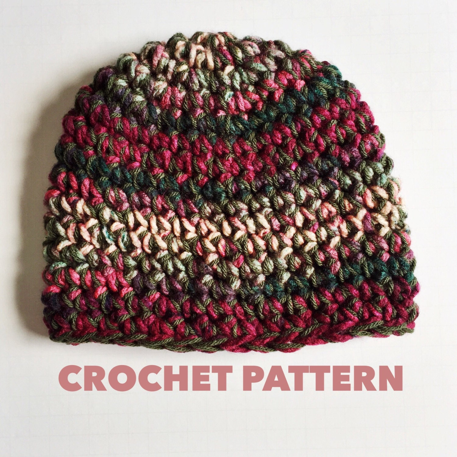 Crochet pattern strawberry crush chunky beanie crochet zoom bankloansurffo Image collections