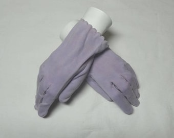 1950s Vintage Lilac Dress Fashion Gloves with Scalloped Edge, Size 5 to 6, Costume, Vintage Gloves, Plays, Drama, Fashion Gloves, Dress Up