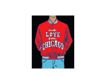Chicago Satin Jacket Art Print