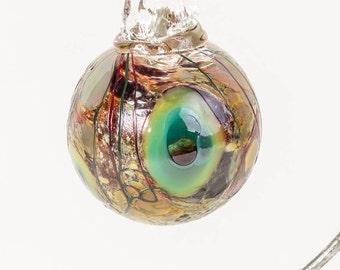 604115 Medium Hand Blown Hanging Art Glass Ball Decorative Ornament
