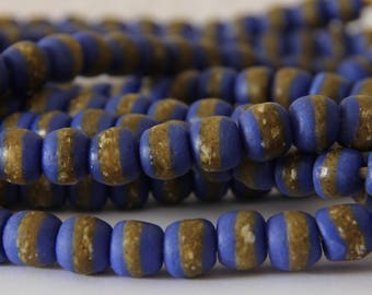 Cobalt Blue Kente Beads - AG 121