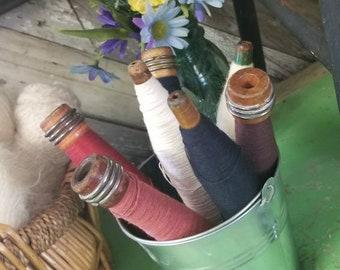 Vintage Wood Thread Spools (set of 7)