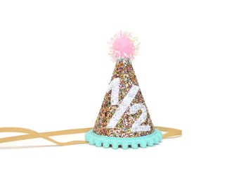 Half Birthday Party Hat For Kids || Birthday Party Hat || First Birthday Hat || First Birthday Party Hat || Birthday Hat