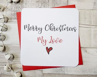Next christmas ill be your wife love heart christmas card merry christmas my love husband card wife card fiance card fiance card m4hsunfo