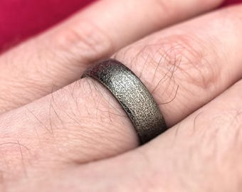 Men's Wedding Band Ring - 3D Printed Stainless Steel