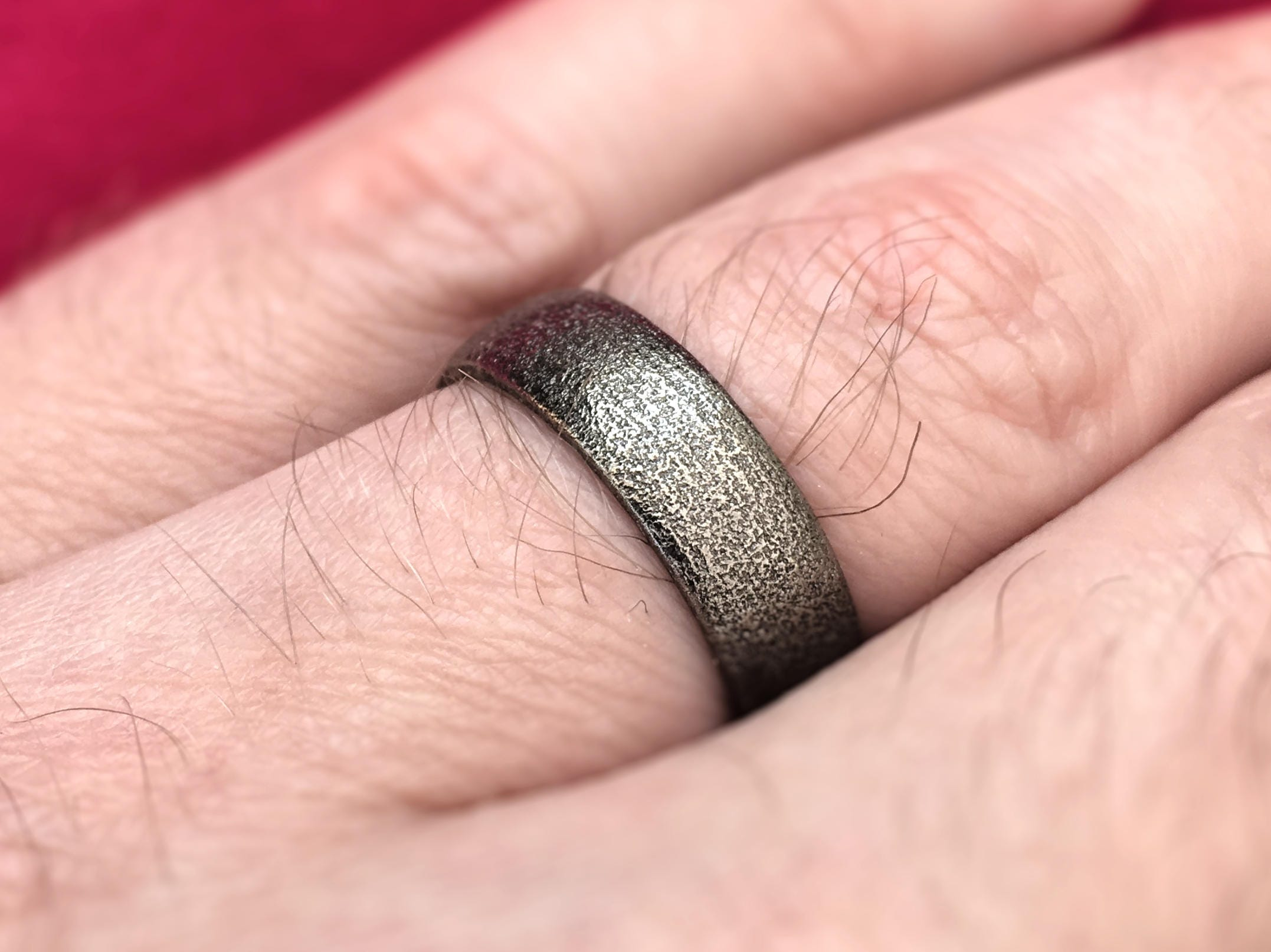 Men\'s Wedding Band Ring 3D Printed Stainless Steel