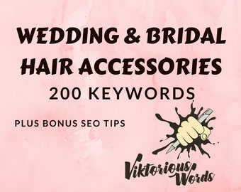 Wedding Keywords for Bridal Hair Accessories Crowns Bride Tiara Hair Flower Pins Title Search  Optimization Tags Keywords SEO Hashtag etsy13