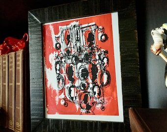 CAMEOS #049 | screen print, black and red (8x10)