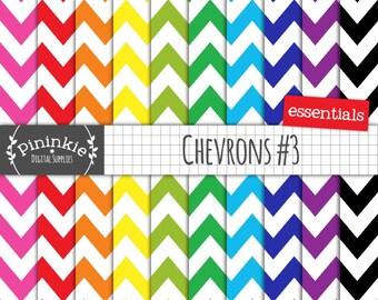 Chevron Digital Background, Digital Paper Pack, Scrapbooking Paper, Instant Download, Commercial Use