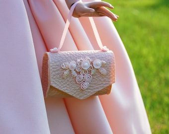 """Decorative eco-leather Bag for 16"""" Dolls by April Seven"""