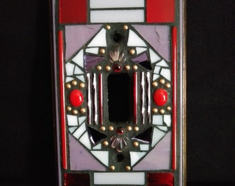 Single Toggle Switchplate in Reds and Purples