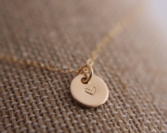 Tiny Gold Filled Heart Necklace