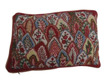 """Free Shipping ! Vintage French Country Style  Floral Handmade Needlepoint Pillow 16""""X11"""""""