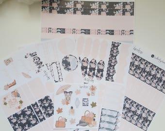 Planner stickers decals set fashion case