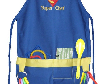 Personalized Royal Super Chef Child's Cooking Apron Boy or Girl