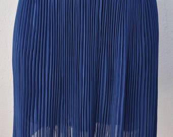 Jupe vintage bleue plissé soleil Taille M